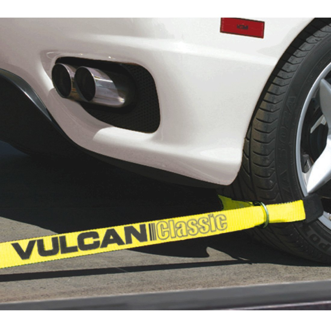 Vulcan Classic 2'' x 12' Yellow Classic Exotic Car Rim Tie Down (set of 4 straps and ratchets) by Vulcan (Image #2)