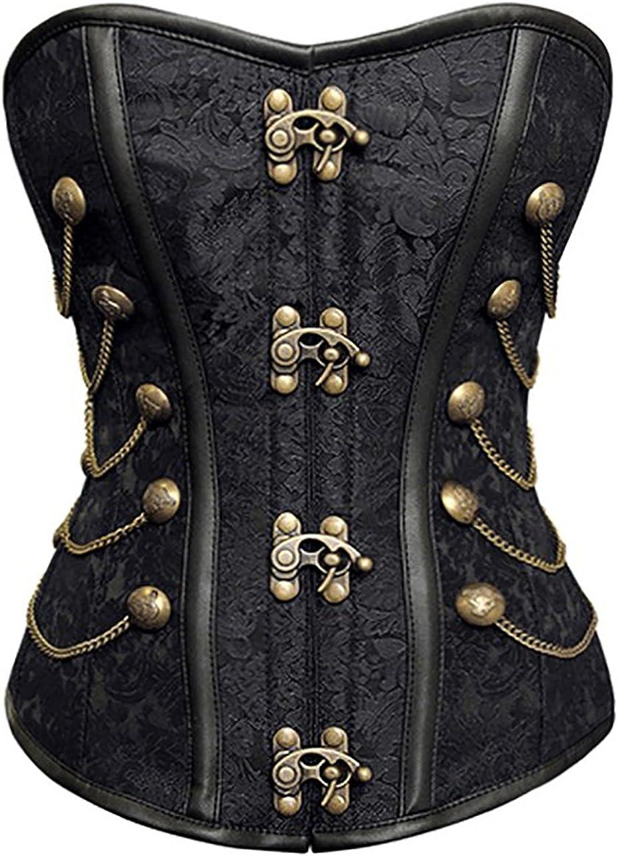spass42 Exklusive Damen Corsage Korsett Vollbrust tr/ägerlos Gothic Pirat Burlesque Steampunk /Übergr/ö/ßen