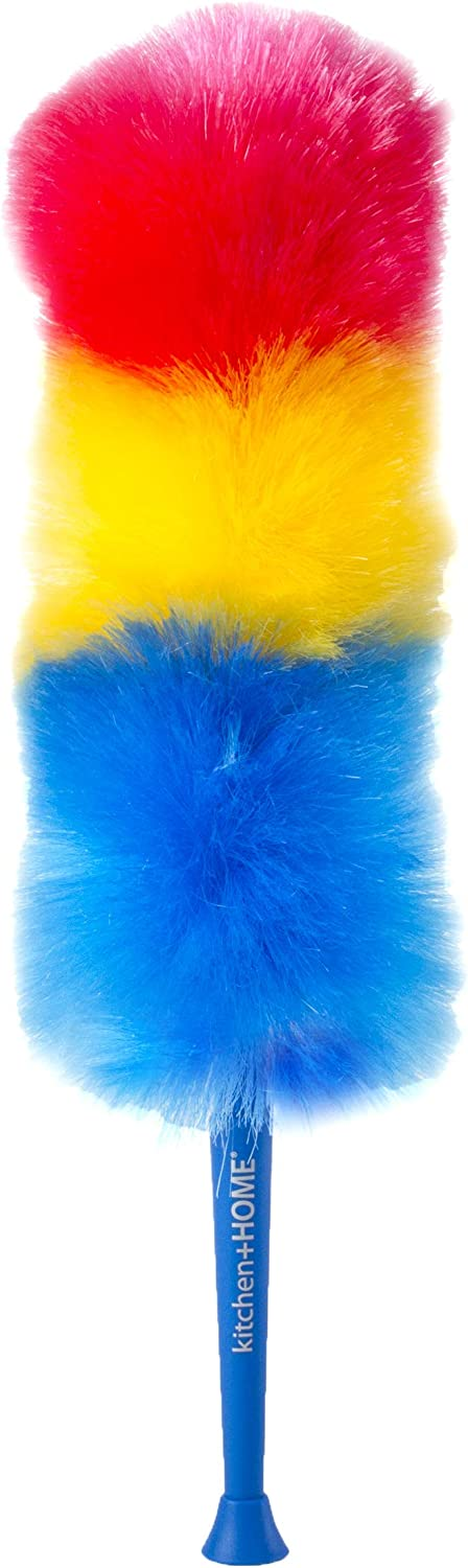 """Kitchen + Home 23"""" inch Rainbow Static Duster - Electrostatic Feather Duster Attracts dust Like a Magnet!"""