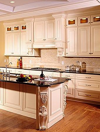 creme maple glazed collection 10 u0027 x 10 u0027 kitchen cabinets kitchen furniture decorating amazon com  creme maple glazed collection 10 u0027 x 10 u0027 kitchen      rh   amazon com