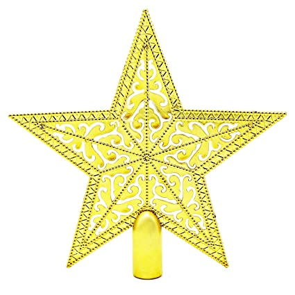 Peace Christmas Tree Topper.Christmas Tree Topper Star Shape Christmas Tree Topper 8 Inch Golden Star Design Christmas Tree Topper Beautiful Christmas Tree Topper