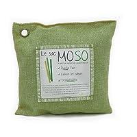 Le Sac MOSO - Purificateur d'air, Désodorisant, Absorbeur d'humidité, Naturel et sans odeur au Charbon de Bambou - 200 Gr