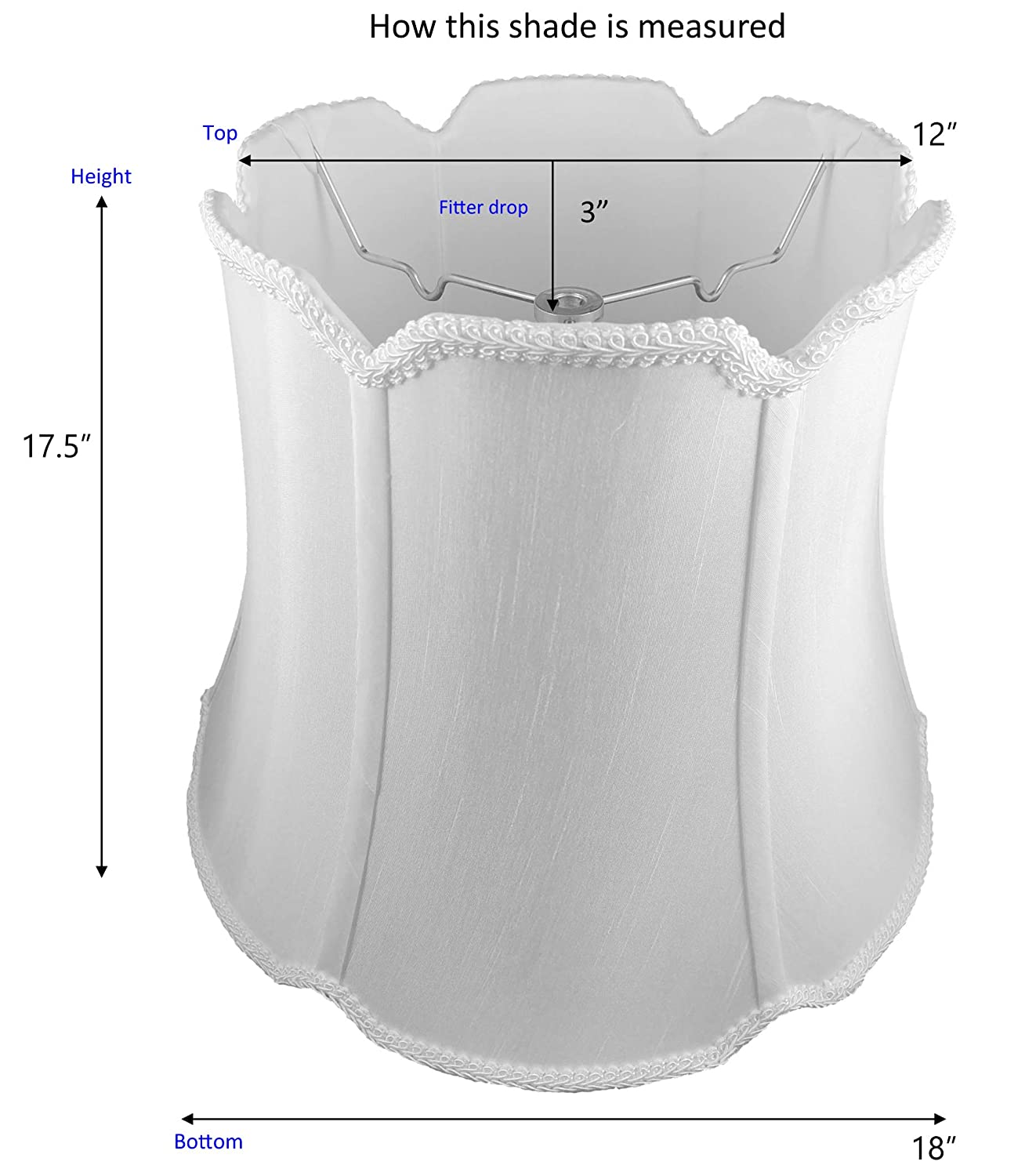 American Pride Lampshade Co Shantung Honey 72-78095520A V-Notch Soft Tailored Lampshade