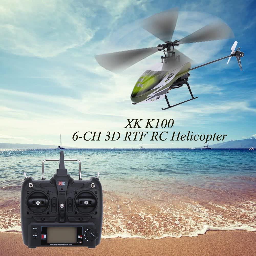Goolsky XK Halc/ón K100 6CH 3D 6G Sistema RTF RC Helic/óptero