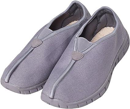 ZOOBOO budista doble/ /Zapatos de monje Shaolin artes marciales zapatos Kung Fu Zapatillas suela de goma antideslizante calzado transpirable y c/ómodo para UNISEX gris