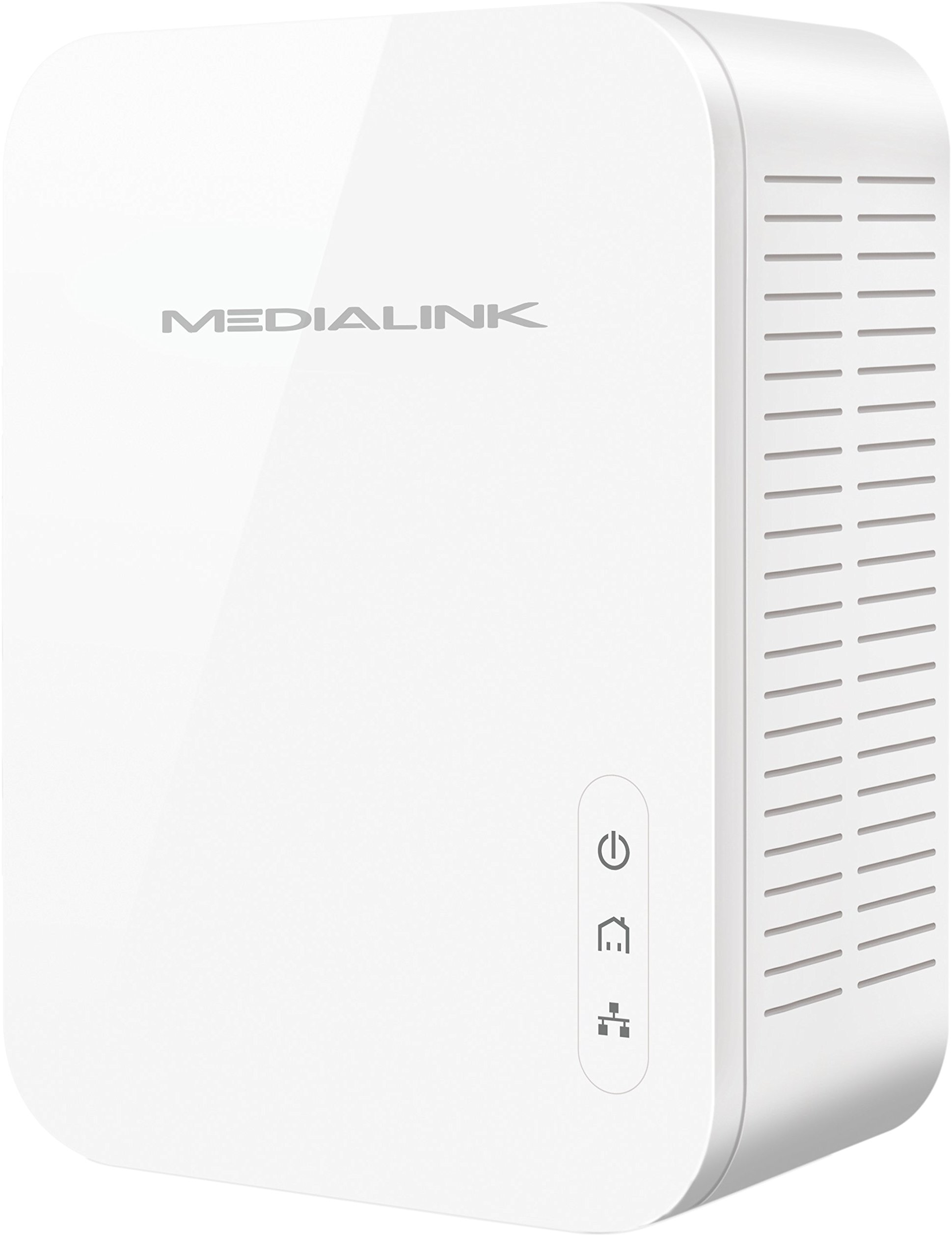 Medialink Gigabit Powerline Adapter Kit (2 Units) - Ethernet Homeplug with Gigabit (1000 Mbps) Wired Speed (Part# MPLA-1000X2) by Mediabridge (Image #4)