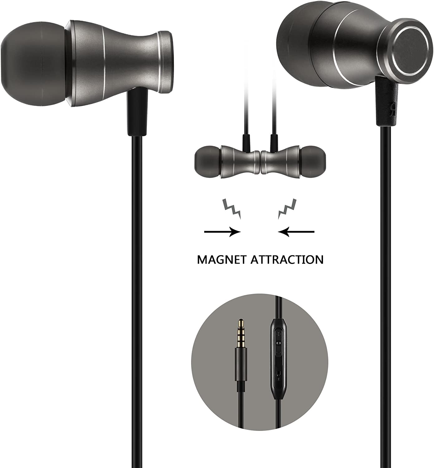 Amazon Com In Ear Earbuds Earphones Headphones Acode 3 5mm Metal Housing Magnetic Best Wired Bass Stereo Headset Built In Mic Hands Free Volume Control Carrying Home Audio Theater