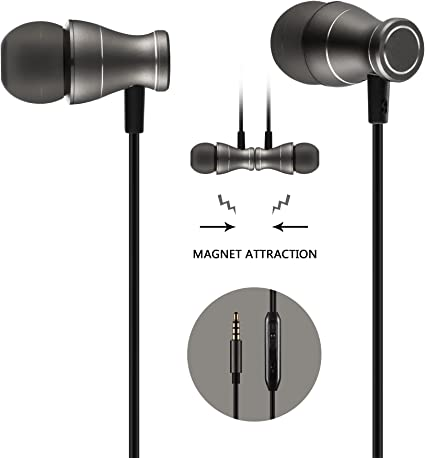 In Ear Earphones to 3.5mm Powerful Bass Stereo Sound Wired Headsets Earphones with Microphone and Volume Control compatible with iPad Android MP3 /& MP4 Players and all 3.5mm Audio jack White 2Pack