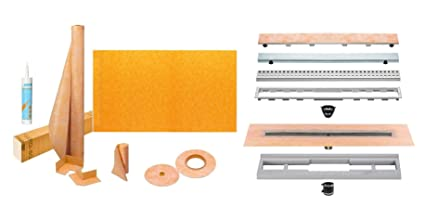 Kerdi Shower Pan Linear Drain.Schluter Kerdi Line Shower Kit With 36in X 72in Shower Tray