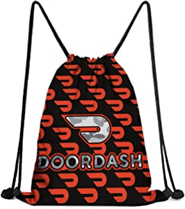 Sport Backpack Gym F Aqua Doordash-Gray-camouflage-apps-like-doordash- Drawstring Bags for Women & Men