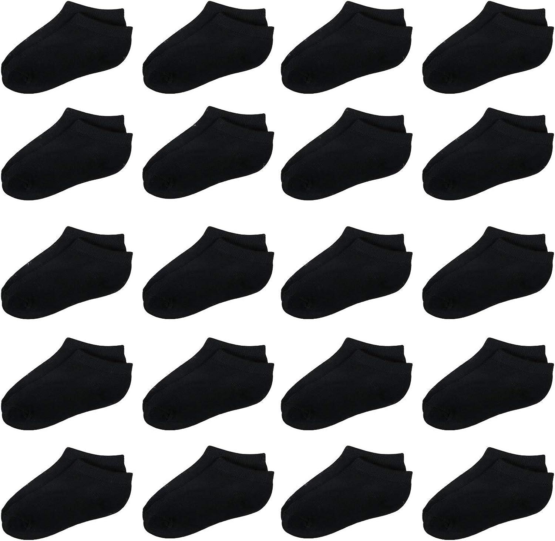ANPN Cushion Crew Socks 18 Pairs Unisex for Toddlers Boys Girls