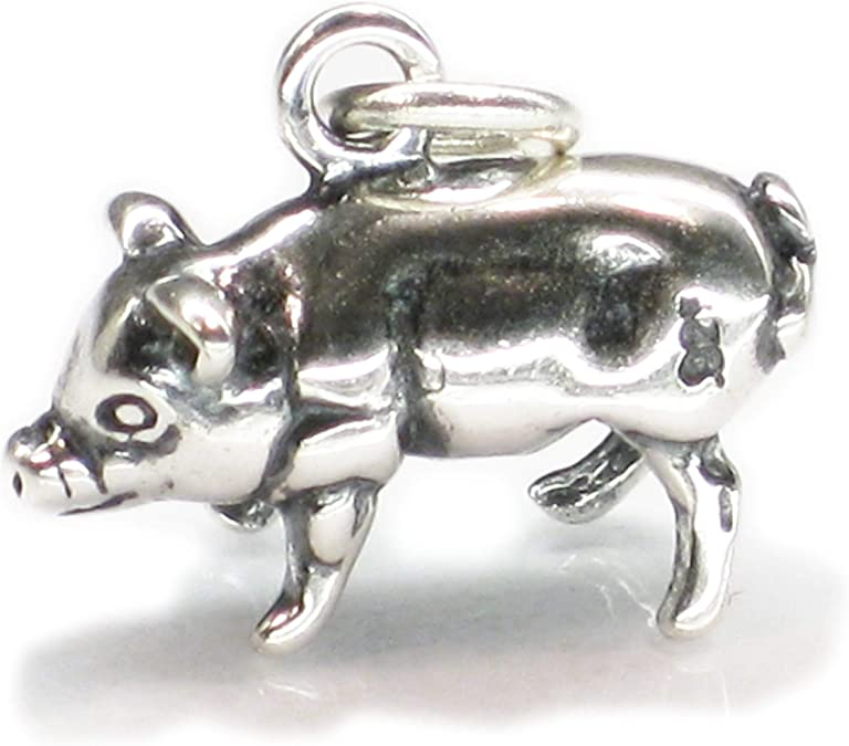 Charm Pendentif Porc Argent sterling 925//1000