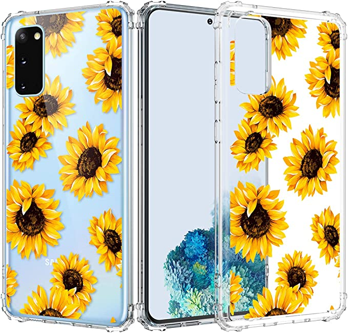 Purple Peony BSLVWG Clear Case For Galaxy S20 Ultra,flower Floral Flower Pattern Clear Design Hard Back Case with Soft TPU Bumper Protective Case for Samsung S20 Ultra 6.9 inch 2020 Released