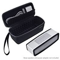 ECO-FUSED Carry Case and TPU Cover designed to Protect and Transport your Bose Soundlink Mini 1 and 2 - Bubble Padded Interior for Speaker and Dock - Mesh Pocket to store Power Adapter - Wrist Strap