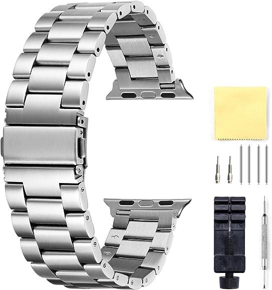 Compatible para Apple Watch Correa 42mm Reemplazo De Acero ...