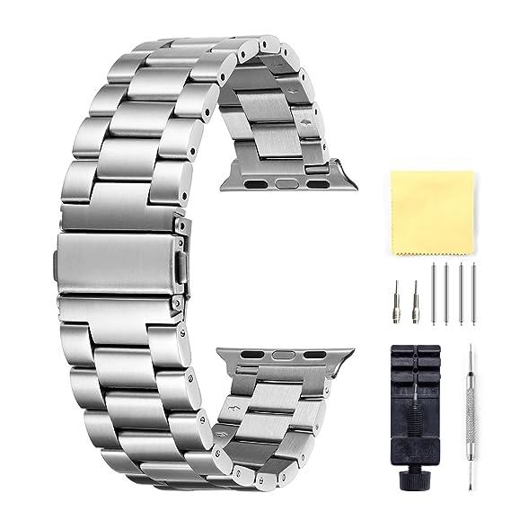Compatible para Apple Watch Correa 38mm Reemplazo De Acero ...