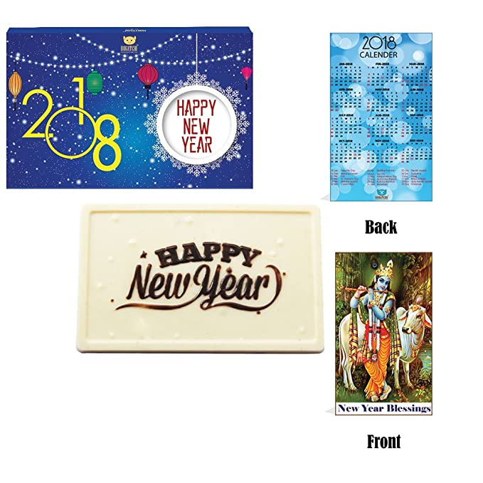 Bogatchi Happy New Year Gift Hampers, Gift White Chocolate Bar + ...