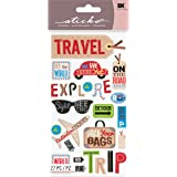 EK Success Brands Decorative Sticko Stickers, Happy Traveling