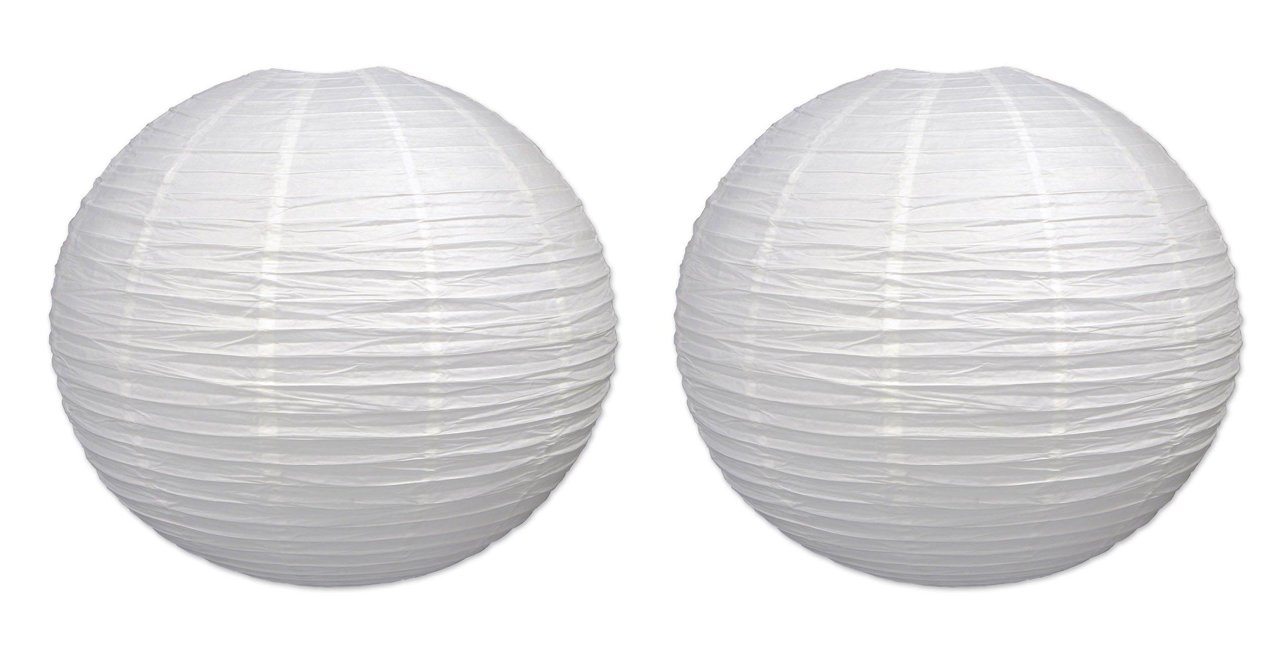 Beistle S54545-WAZ2 jumbo paper lantern, White