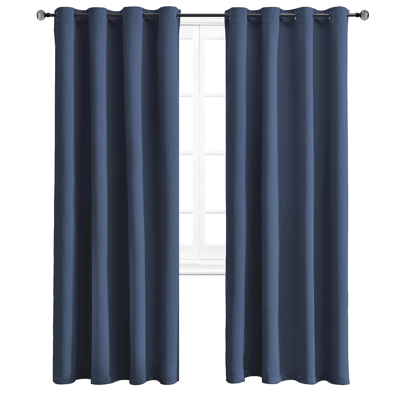Blackout Room Darkening Window Curtains 2 Panel 52/'/'x 84/'/' GREY Thermal Balance