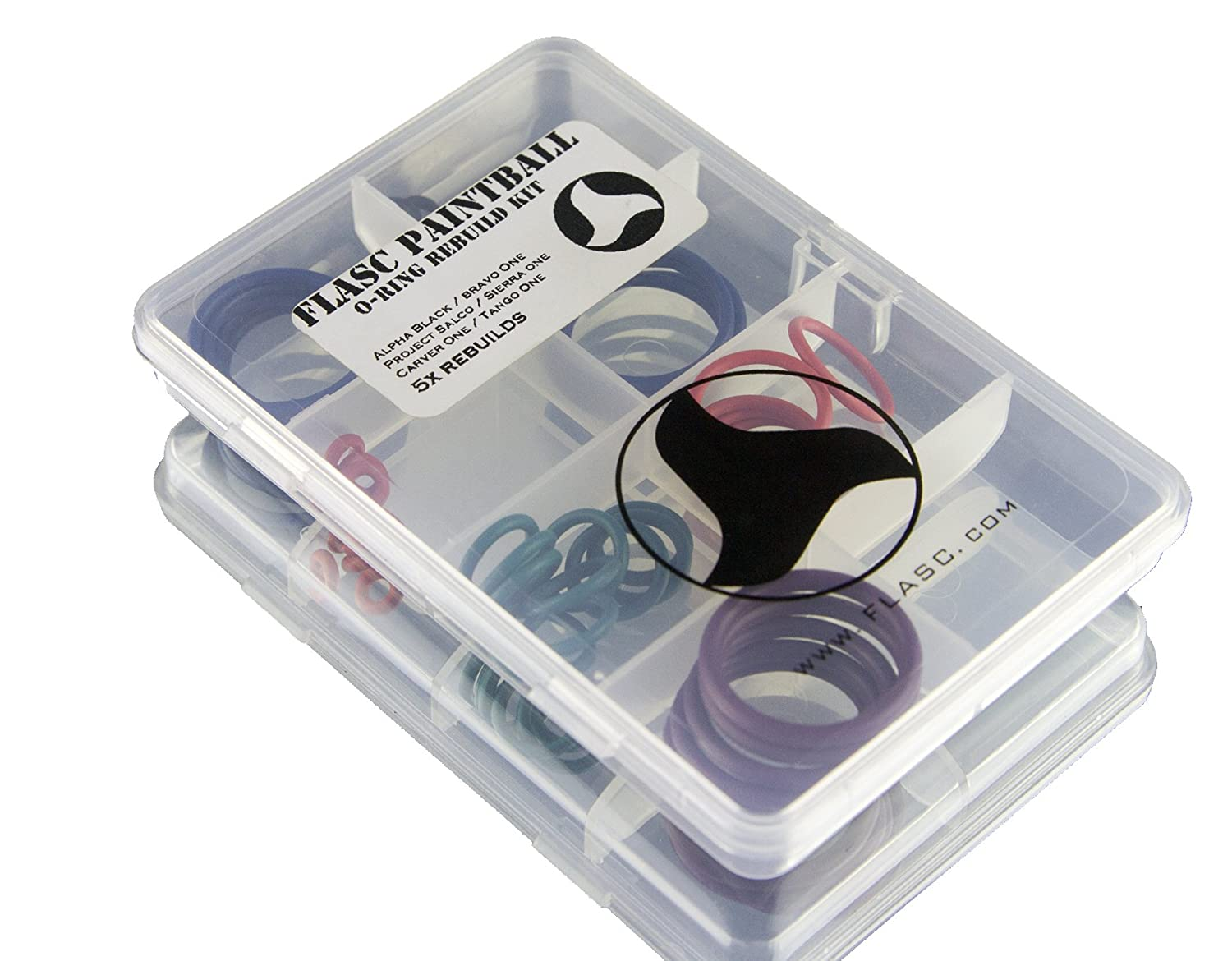 Tippmann Alpha Black Bravo One 5x color coded paintball o-ring rebuild kit by Flasc Paintball