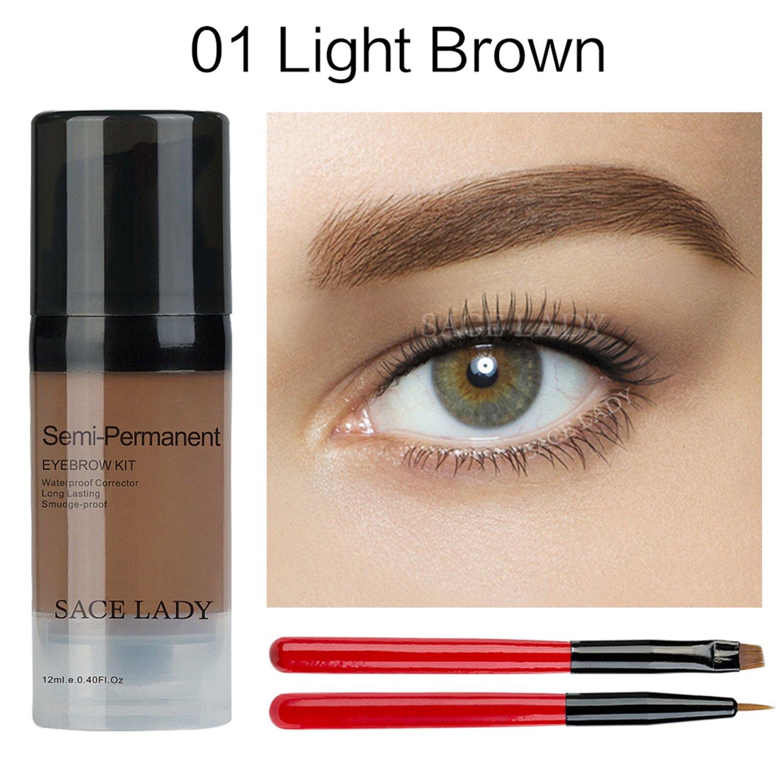 Amazon Waterproof Eyebrow Tint Gel Kit Long Lasting Brow