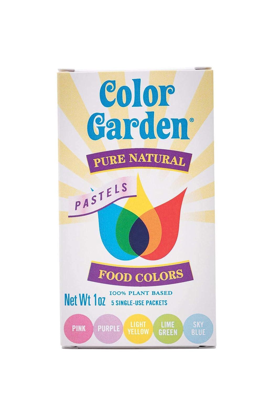 Color Garden Pure Natural Food Colors, PASTELS Pack 5 ct. 1 oz.