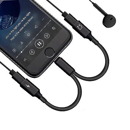 de3832cf31c 2 in 1 Lightning Jack Adapter for iPhone X /8/8Plus7/7Plus&ipod&ipad,