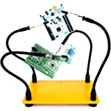 KOTTO Helping Hands Soldering, Third Hand Soldering Tool PCB Holder Four Arms Helping Hands Crafts Jewelry Hobby…