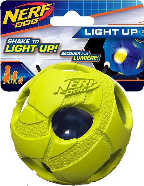 Nerf Perro Mediano Bola de Golpe de LED Luminoso Verde Perro ...