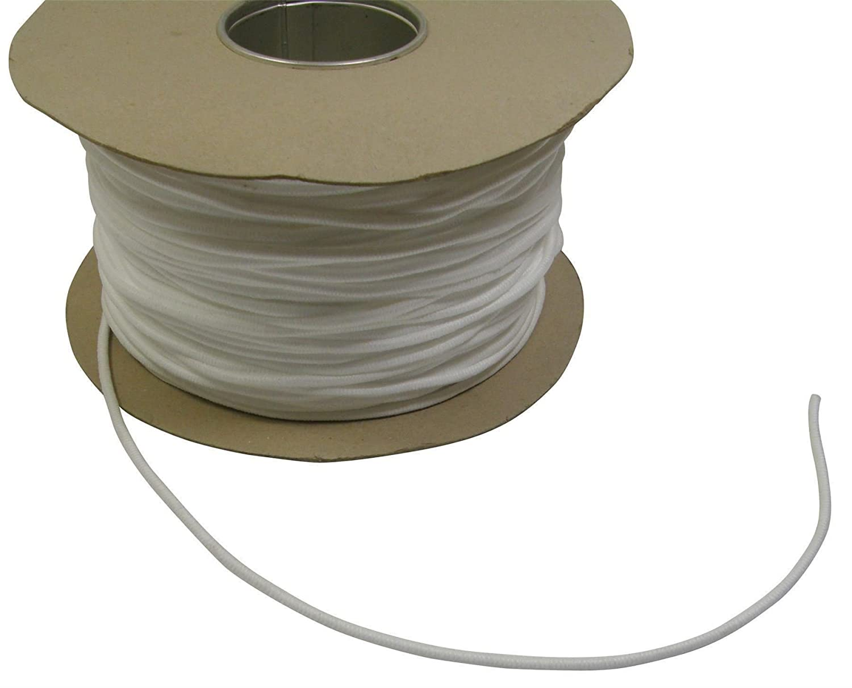 100 m/ètres-Blanc-Cordon de Passepoil lavable Diam/ètre 4 mm