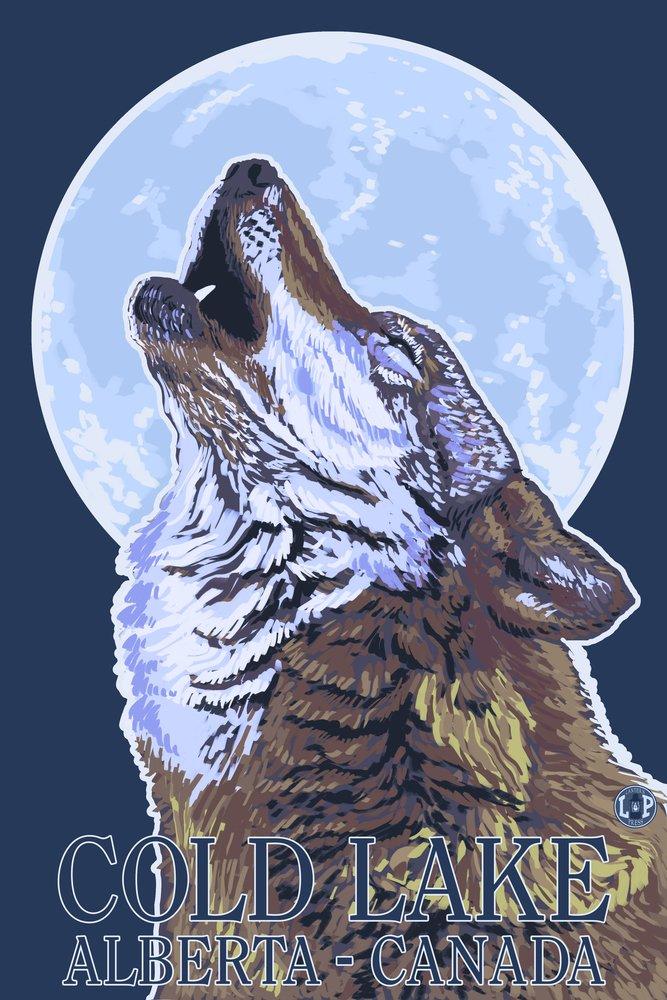 Cold Lakeカナダ、 – Howling Wolf 36 x 54 Giclee Print LANT-19385-36x54 36 x 54 Giclee Print  B017E9VLN4
