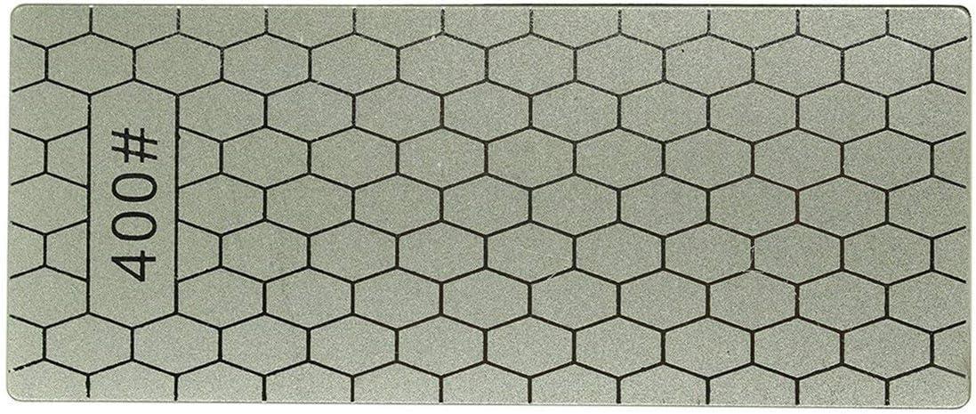 400/1000 Granos Cuchillos de piedra de afilado de diamantes finos Placa de diamante Afilador de cuchillos de piedra de afilar Afilador Herramientas de afilar (gris) (Togames)