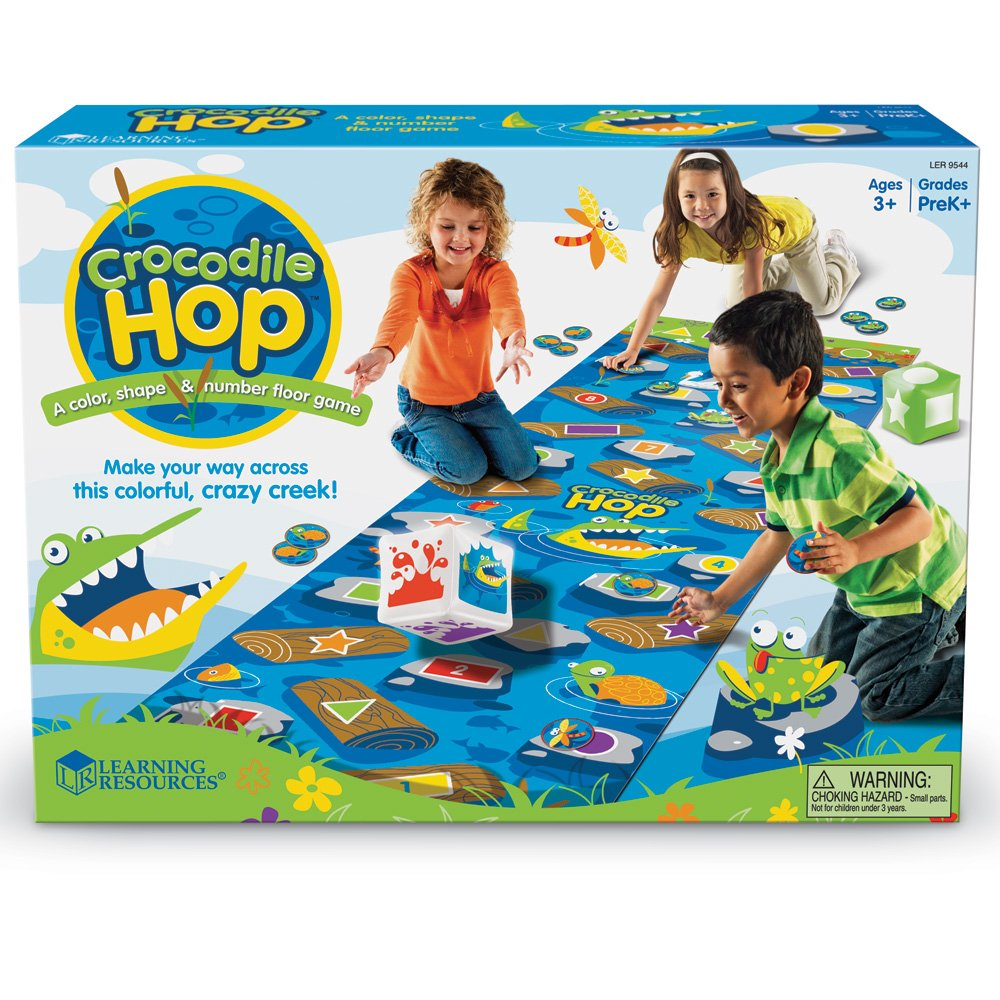 Learning Resources Crocodile Hop Floor Game, Early Learning Skills, Individual Or Group Play, Ages 3+ by Learning Resources (Image #4)