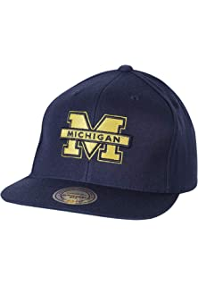 Mitchell   Ness Hats Michigan Wolverines Snapback Cap - Wool Solid - Navy  Blue cb4b35914fe3