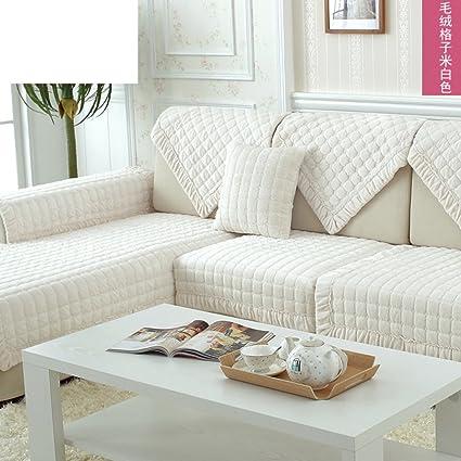 Winter Plush Sofa Towel,Fabric European Sofa Cushion Anti Slip Sofa Covers  For Leather