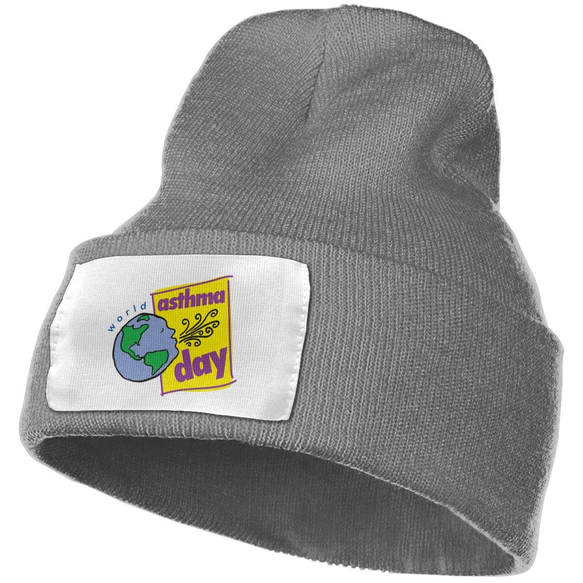 TAOMAP89 World Asthma Day 2 Men /& Women Skull Caps Winter Warm Stretchy Knitting Beanie Hats