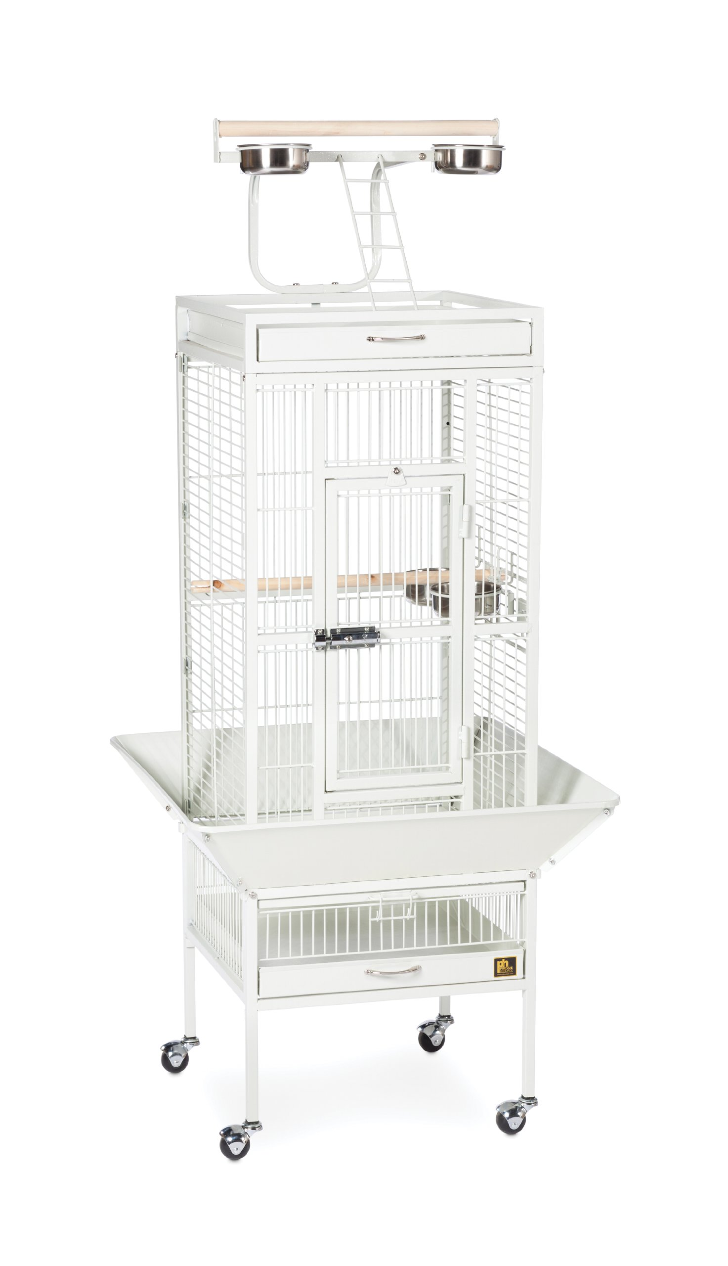 Prevue Hendryx 3151C Pet Products Wrought Iron Select Bird Cage, Chalk White by Prevue Hendryx