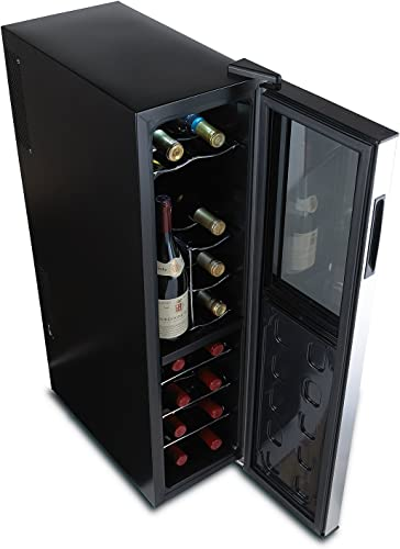 Wine-Enthusiast-Silent-18-Bottle-Wine-Refrigerator-Freestanding-Slimline-Upright-Bottle-Storage-Wine-Cooler