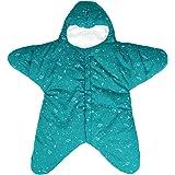 Bebé Saco de dormir 0-8 Meses Personalizado Diseño Forma de estrella Cremallera Frente Verde