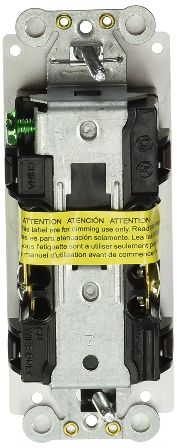 Lutron SCR-15-HDTR-SW Satin Colors 15-Amp Half Dimmable Tamper Resistant Receptacle, Snow - Electrical Outlets - Amazon.com