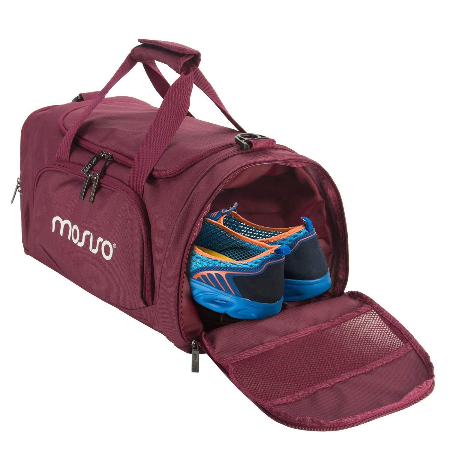 1da168ef8f Mosiso Polyester Fabric Foldable Travel Luggage Multifunctional Duffels  Lightweight Shoulder for Men Ladies Gym Bags