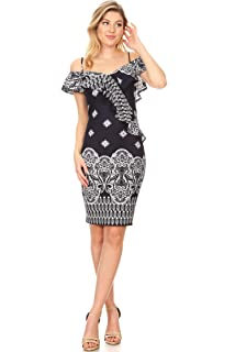328ba6d7c41 Women s Casual Solid Comfy Sexy Strapless Midi Bodycon Tube Dress Made in  USA