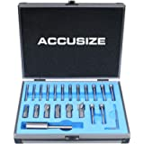 Accusize Industrial Tools 21 Piece H.S.S. Interchangeable Pilot Counterbore Set, 3620-0121