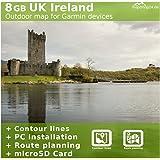 Great Britain UK Ireland Topo Map for Garmin devices - For Walking, hiking, climbing & Mountain Bikng