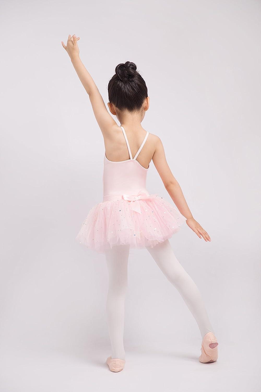 Dancina Girls/' Leotard Dress Classic Camisole Ballet Cotton with Chiffon Skirt