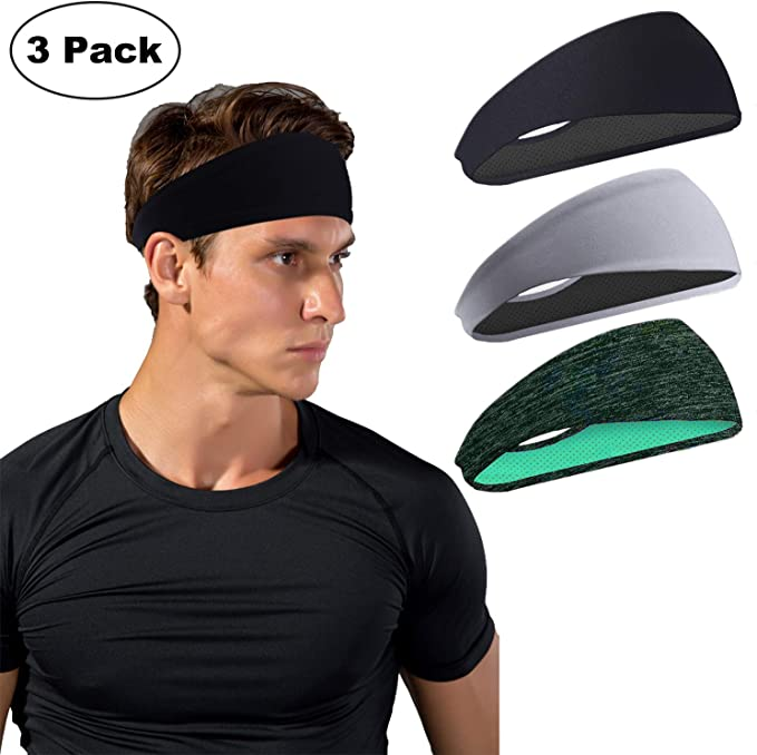 Arcweg Cinta para la Cabeza Hombre Mujeres 2PCS Diademas Deportivas El/ástico Malla Transpirable Absorber Sudor Antideslizante Headband para Running 2PCS