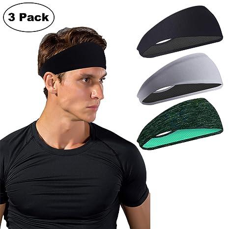 Sports Headband Moisture Wicking Workout Sweatbands for Running Yoga Bike Helmet