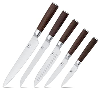 Amazoncom Chef Knife Set Yuteea Professional Stainless Steel