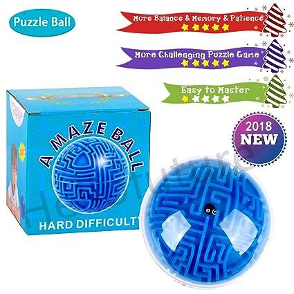 Jigsaws & Puzzles VPASS 3D Maze Ball Kids Educational Wooden